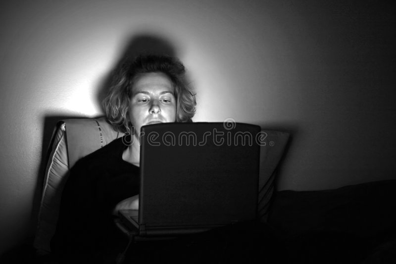 Virtual Nightilfe stock image