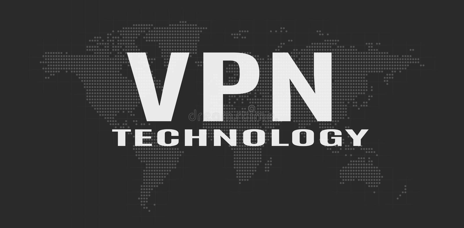 Virtual Private Network concept royalty free illustration