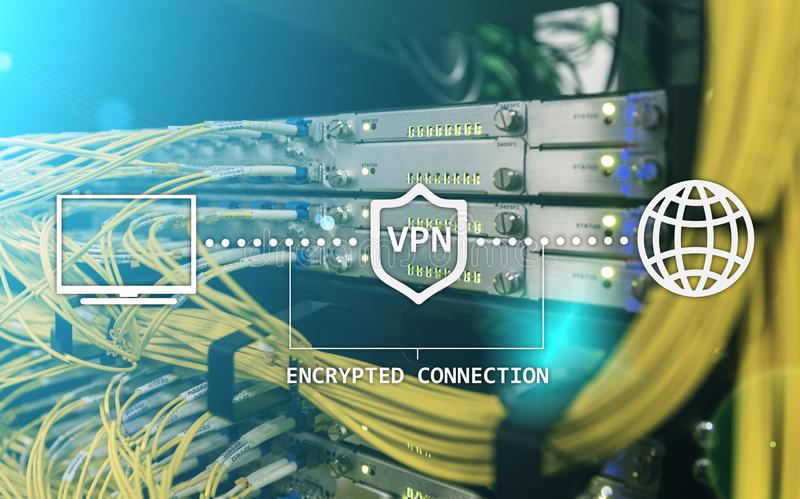 Virtual private network, VPN, Data encryption, IP substitute royalty free illustration