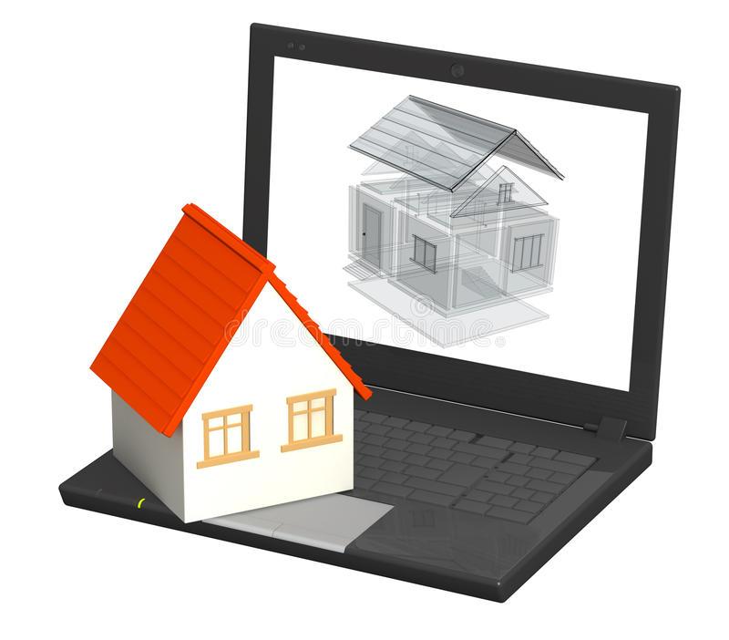Virtual Project Of Home Stock Image