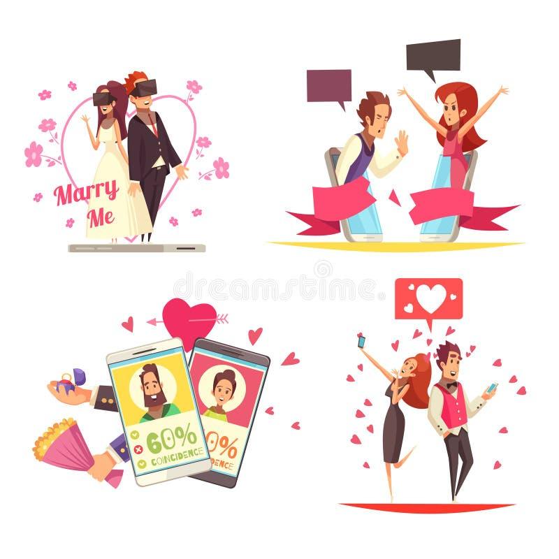 Virtual Love Design Concept royalty free illustration
