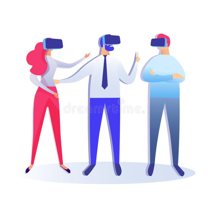 Virtual Reality Conference Vector Illustration royalty free illustration