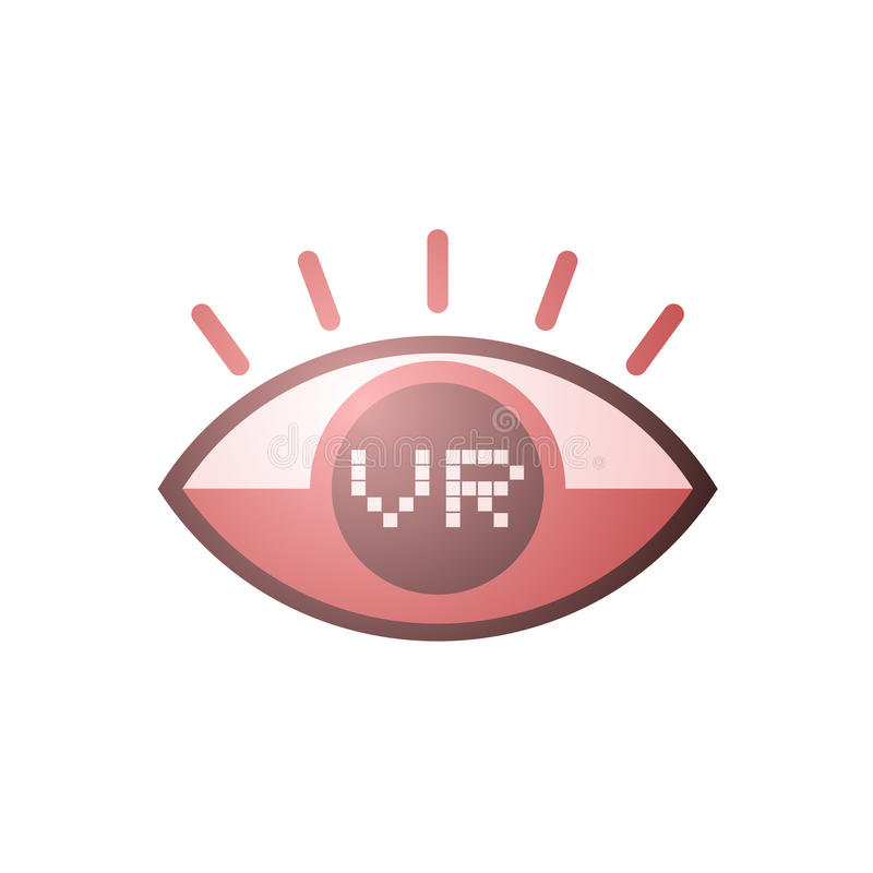Download Virtual reality eye icon stock vector. Image of vision - 83722282
