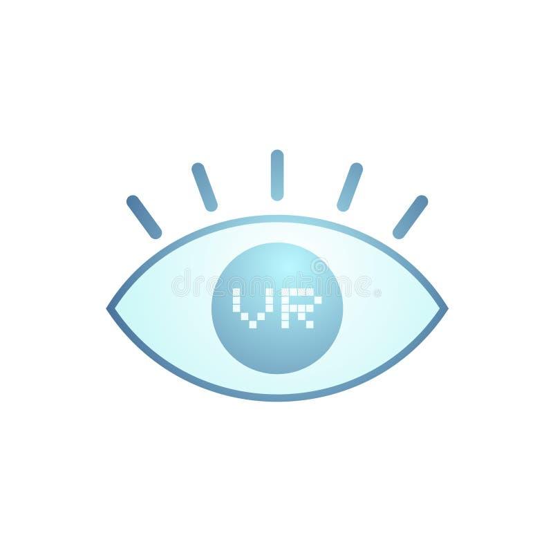 Download Virtual Reality Eye Icon Stock Vector - Image: 83724002