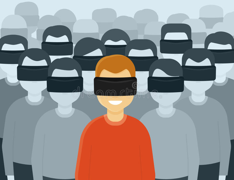Virtual reality generation royalty free illustration