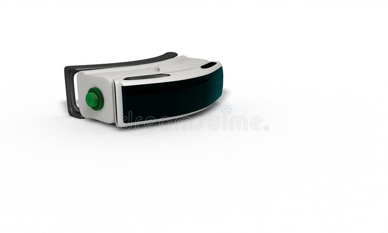 Virtual reality glasses concept three dimensional study vector illustration