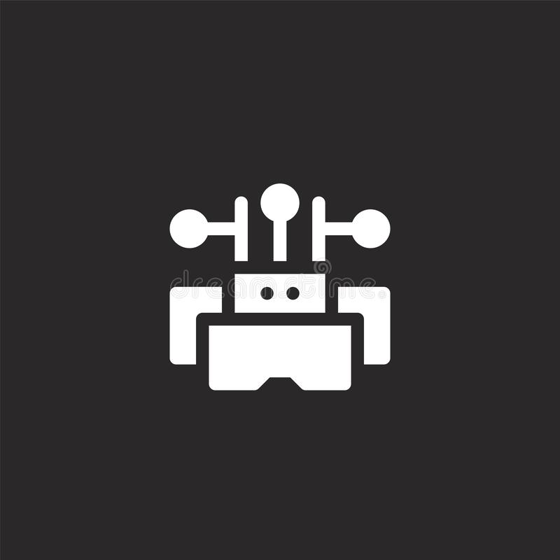Virtual reality glasses icon. Filled virtual reality glasses icon for website design and mobile, app development. virtual reality. Glasses icon from filled royalty free illustration