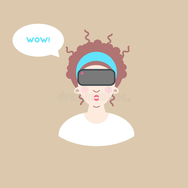 Virtual reality glasses. royalty free illustration