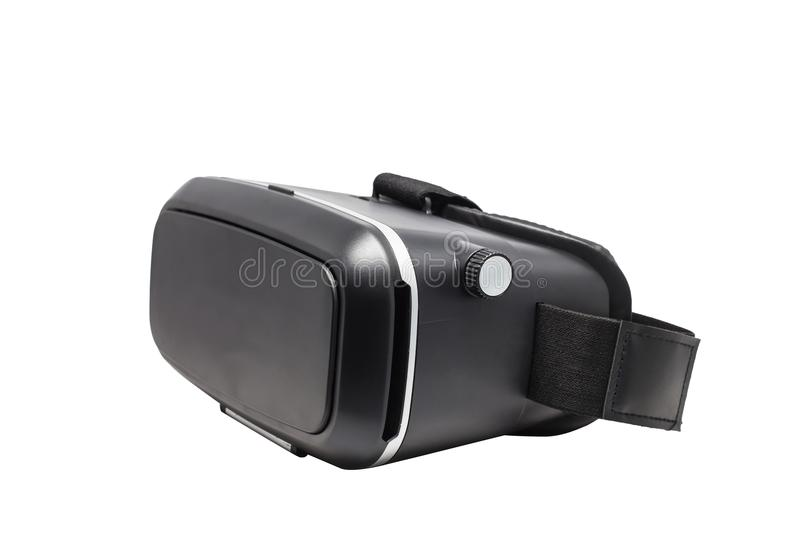 Virtual reality glasses video digital technology innovative gadgets display equipment accessories smart phone play design electron. Ic screen black Isolated stock photography