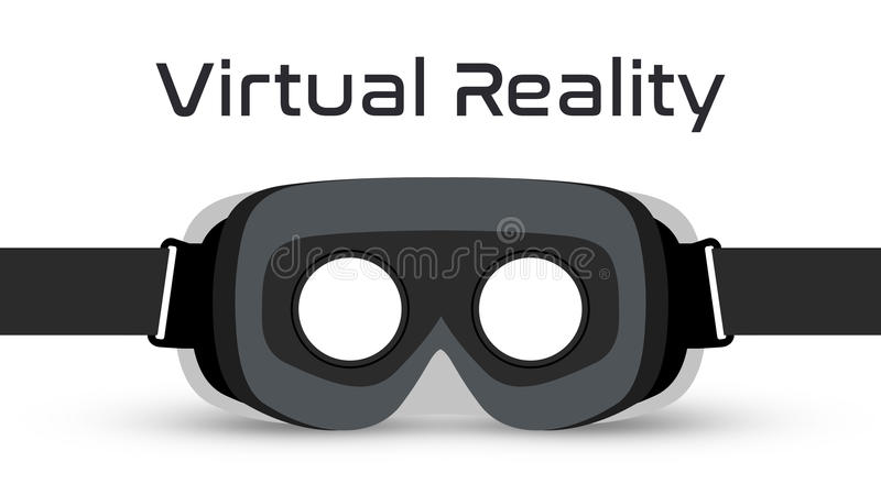 Virtual Reality Goggles VR Headset Vector. Simple virtual reality goggles VR Headset vector on white background stock illustration
