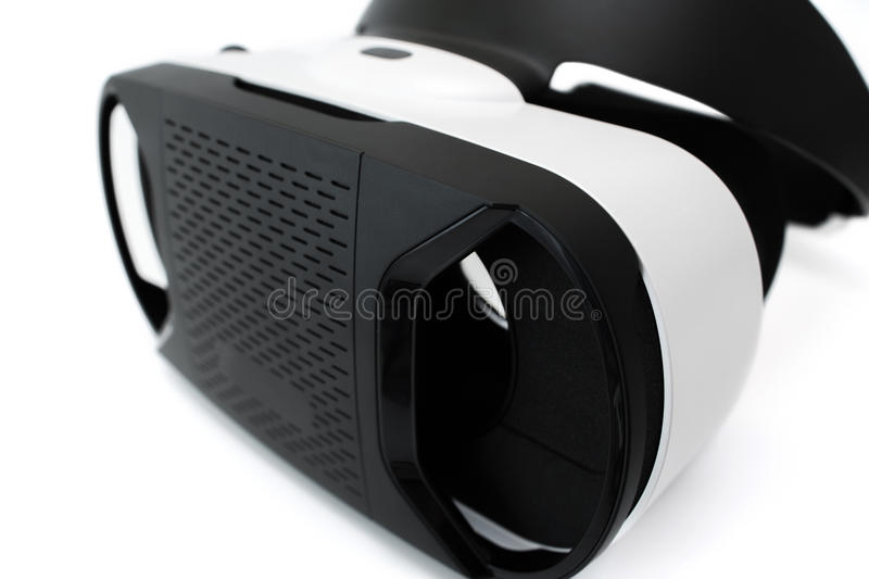 Virtual reality goggles, on white royalty free stock photography