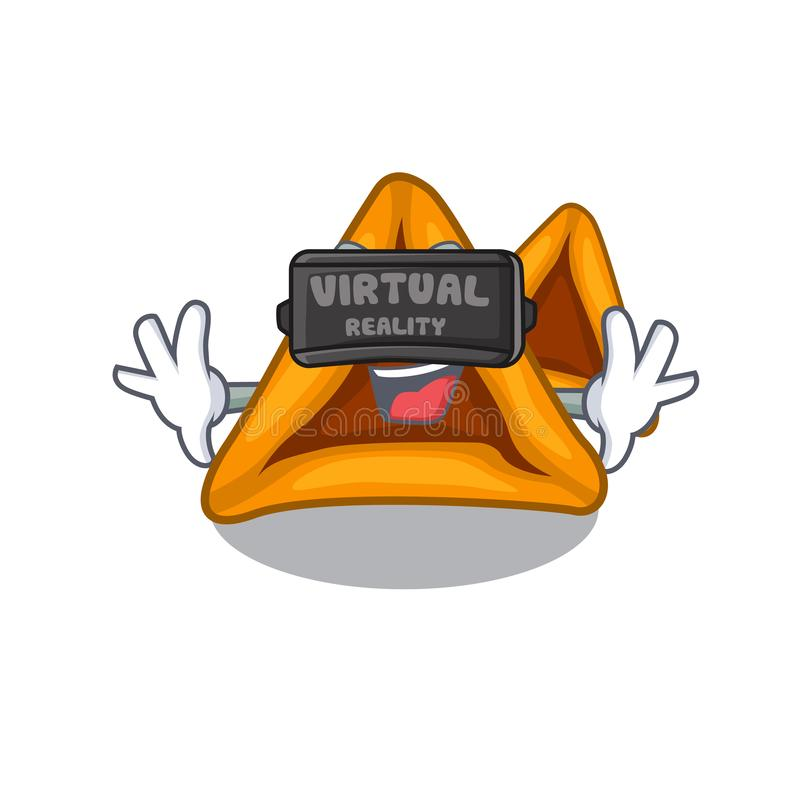 Virtual reality hamantaschen cookies isolated with the mascot vector illustration