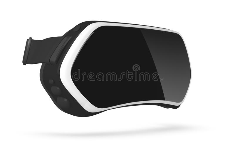 Virtual reality headset. stock photos