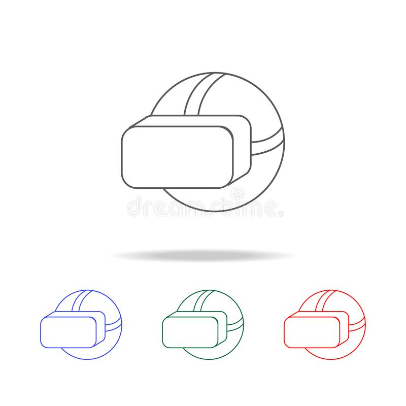 Virtual reality headset icon. Elements of game life in multi colored icons. Premium quality graphic design icon. Simple icon for w. Ebsites, web design, mobile royalty free illustration