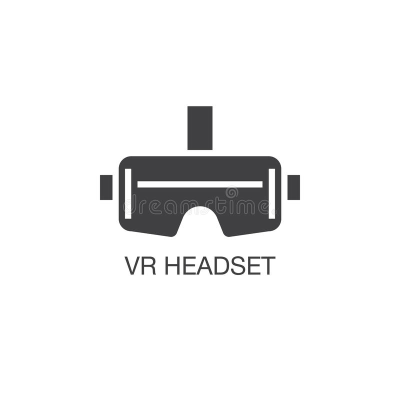 Virtual reality headset icon vector, solid logo illustration, pi. Ctogram isolated on white vector illustration