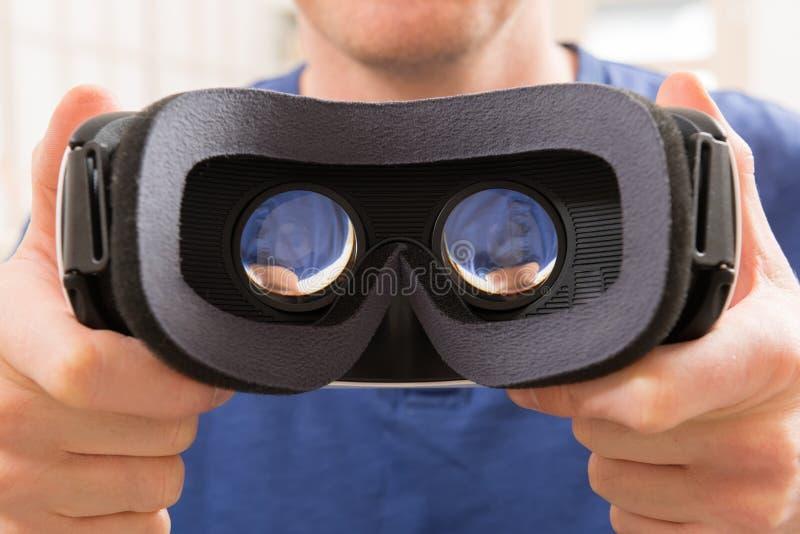Virtual reality headset stock photography