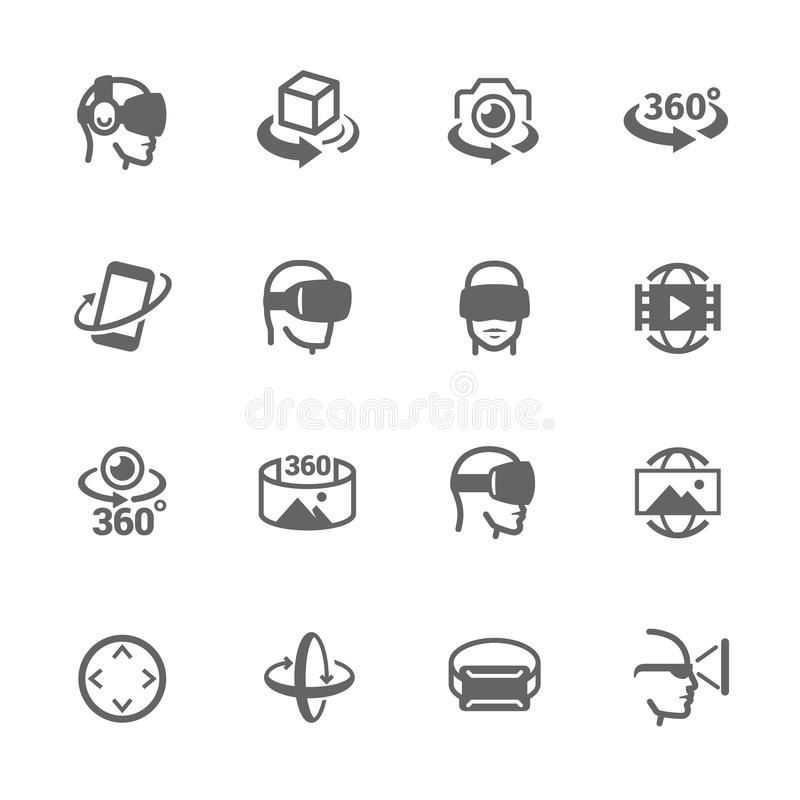 Virtual Reality Icons vector illustration