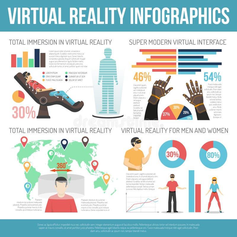 Virtual Reality Infographics stock illustration