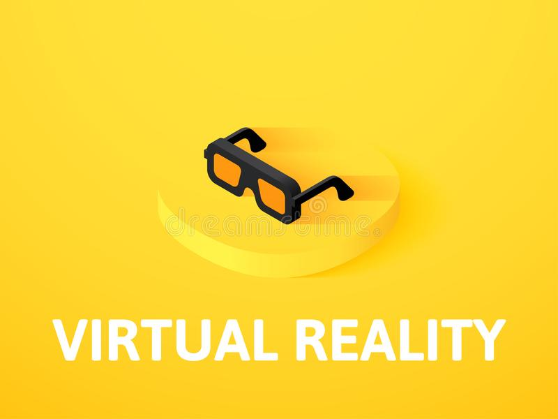Virtual reality isometric icon, isolated on color background royalty free illustration