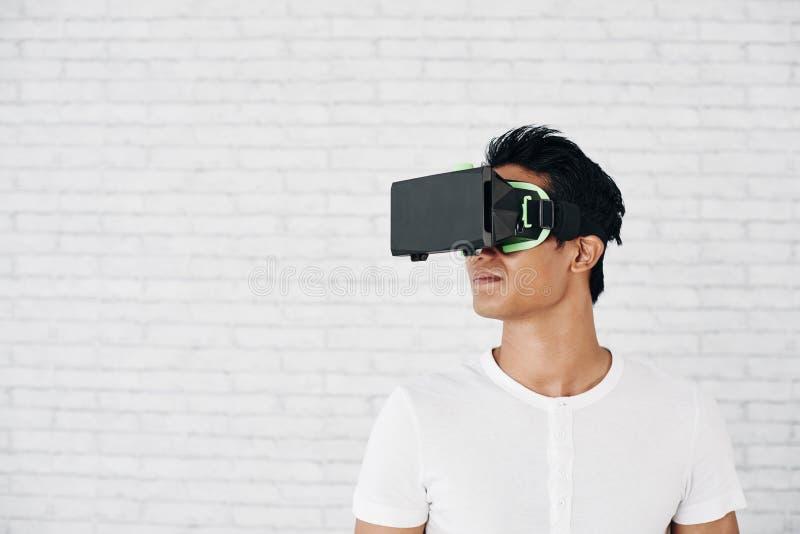 Virtual reality and life stock image