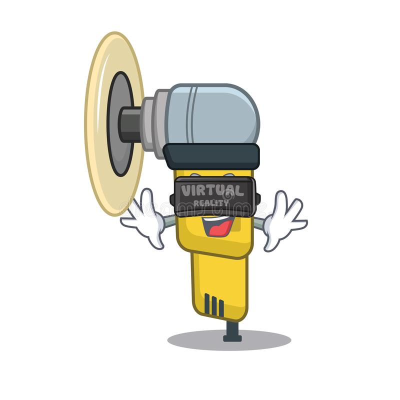 Virtual reality pneumatic sander isolated with the cartoon stock illustration