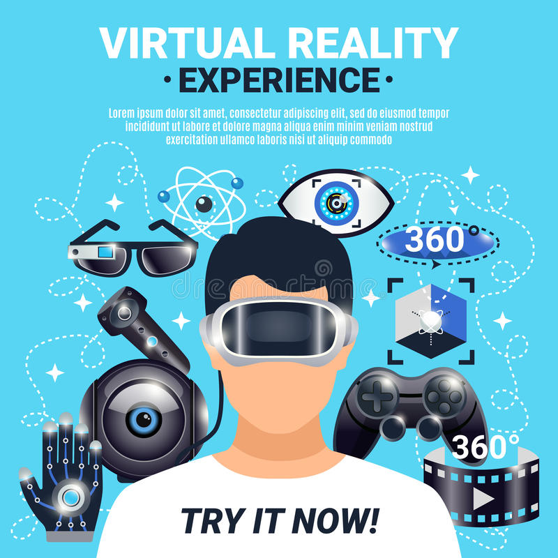 Virtual Reality Poster royalty free illustration