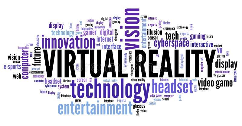 VR word cloud stock illustration