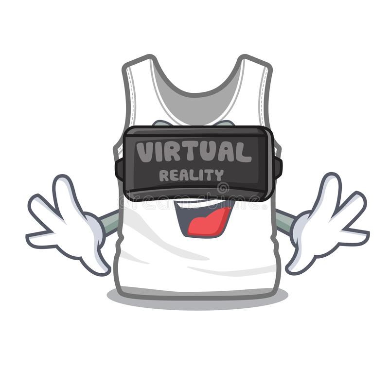 Virtual reality undershirt folded in a cartoon closet royalty free illustration