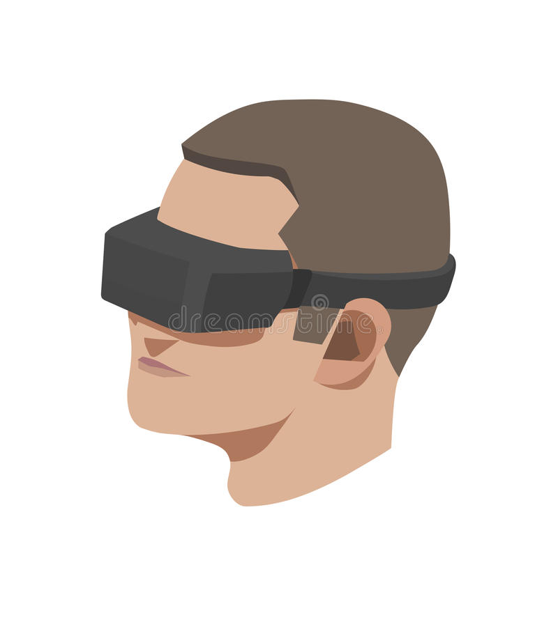 Virtual reality. This is a vector Virtual reality concept vector illustration