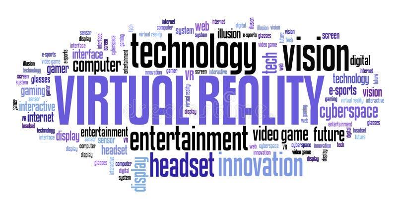 Virtual reality stock illustration