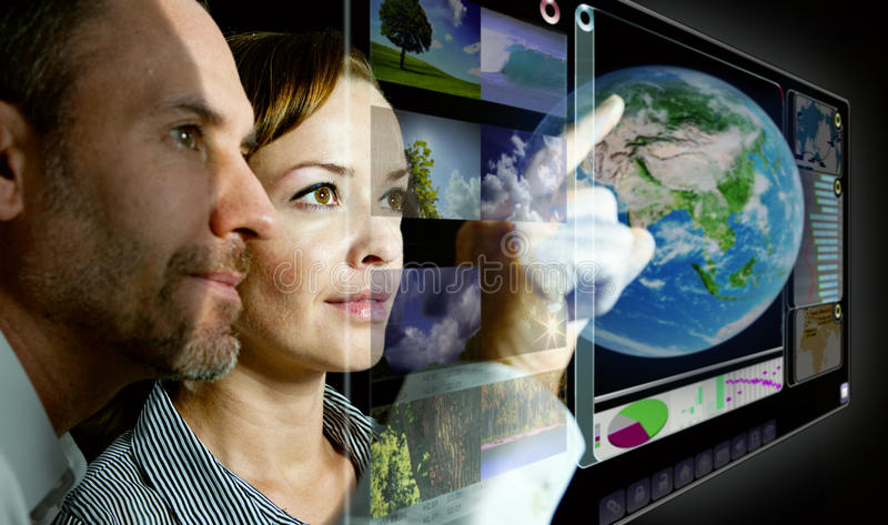 Virtual Screen 3D royalty free stock images