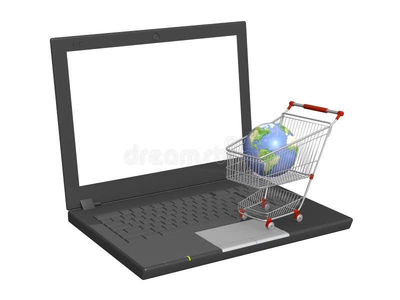 Download Virtual shopping stock illustration. Illustration of electronic - 13019527