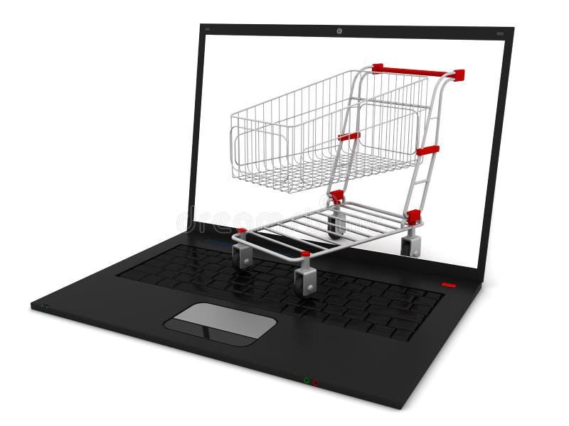 Virtual Shopping Stock Photo