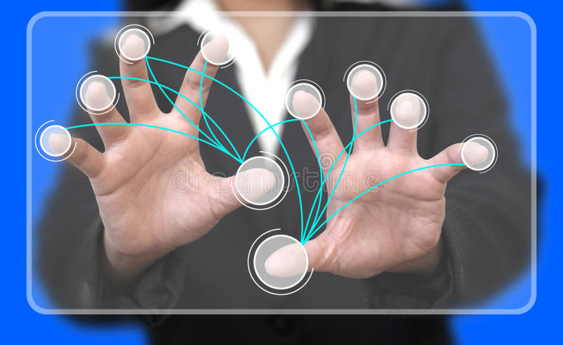 Download Virtual Touchscreen Interface Connection Stock Image - Image: 23232893