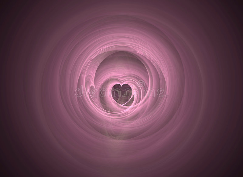 Virtual Tunnel of Love royalty free stock image