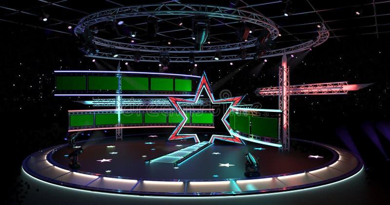 Virtual TV Studio Entertainment 4-3. Virtual TV Studio Entertainment 4 royalty free illustration