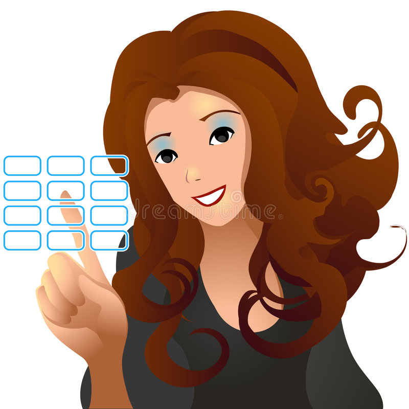 Virtual Woman stock illustration