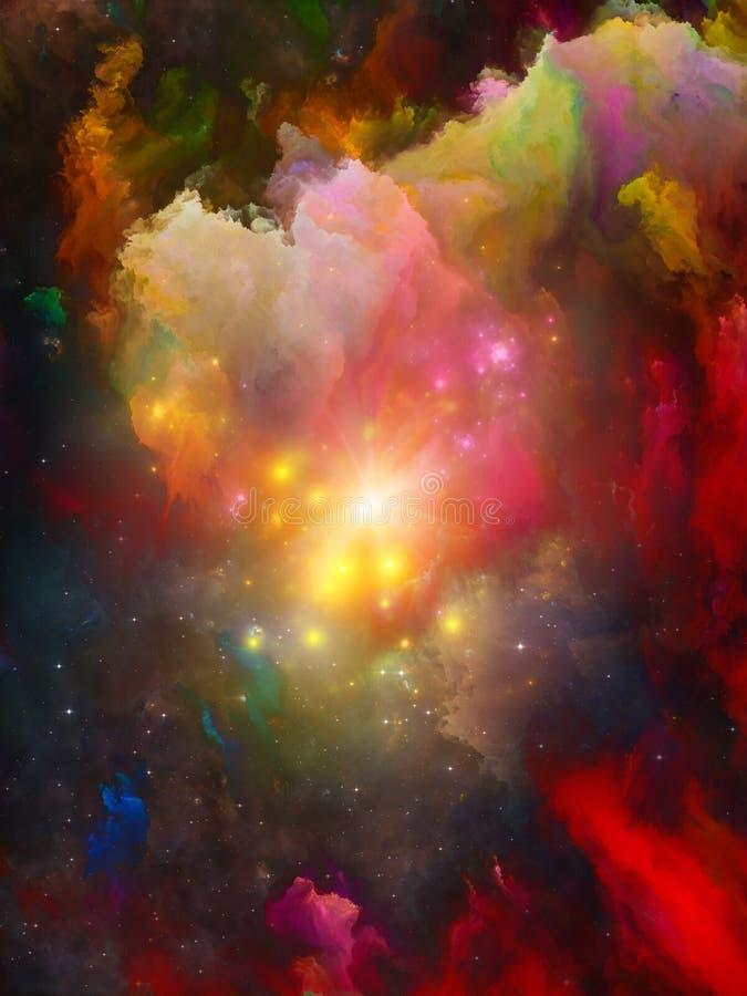 Virtualisation d'espace chromatique illustration stock