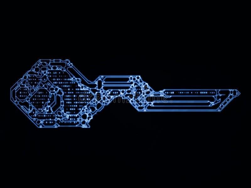 Virtualização do código chave ilustração royalty free