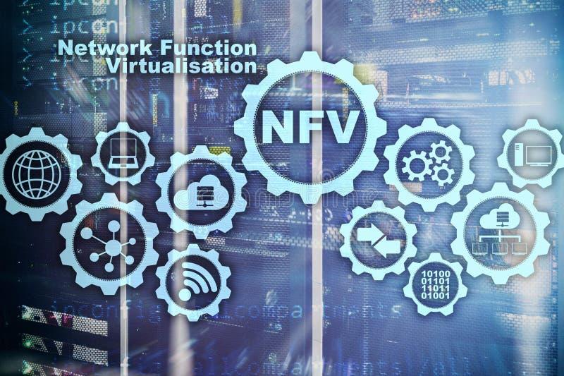Virtualización de la función de la red de NFV Concepto de las máquinas virtuales de las tecnologías de la arquitectura foto de archivo libre de regalías