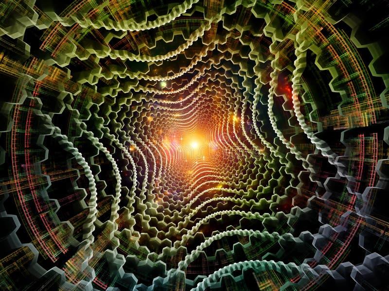 Virtualización de la textura radial del fractal foto de archivo