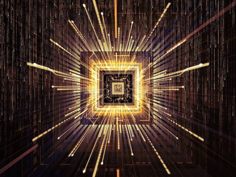 Virtualizzazione del CPU illustrazione di stock