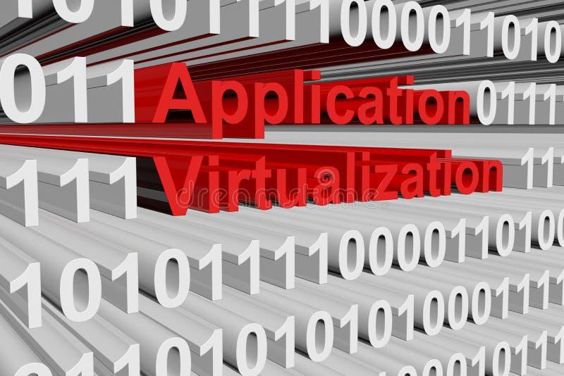 Virtualizzazione di applicazione illustrazione vettoriale