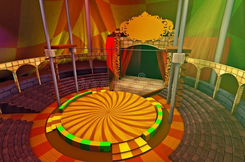 Virtueel Circus 2 stock illustratie