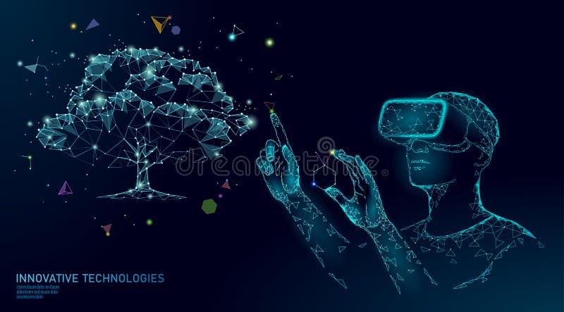 Virtueel digitaal de techniekconcept van de biotechnologieboom 3D geef supplement van de de werkelijkheidsvitamine van VR het hel royalty-vrije illustratie