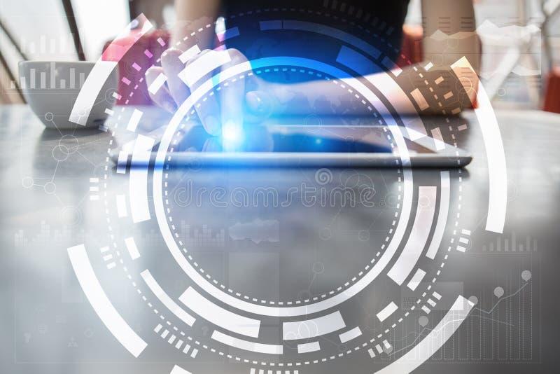 Virtueel het schermzaken, technologie en Internet-concept royalty-vrije illustratie