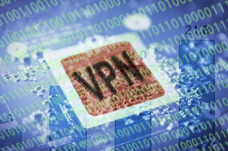 Virtueel Privé Netwerk vector illustratie