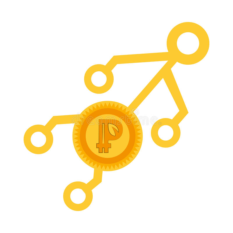 virtuel d'or d'argent de peercoin illustration libre de droits
