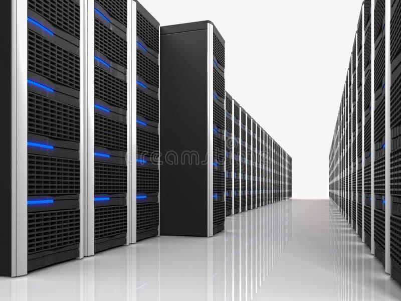 Virtuele 3d server stock illustratie