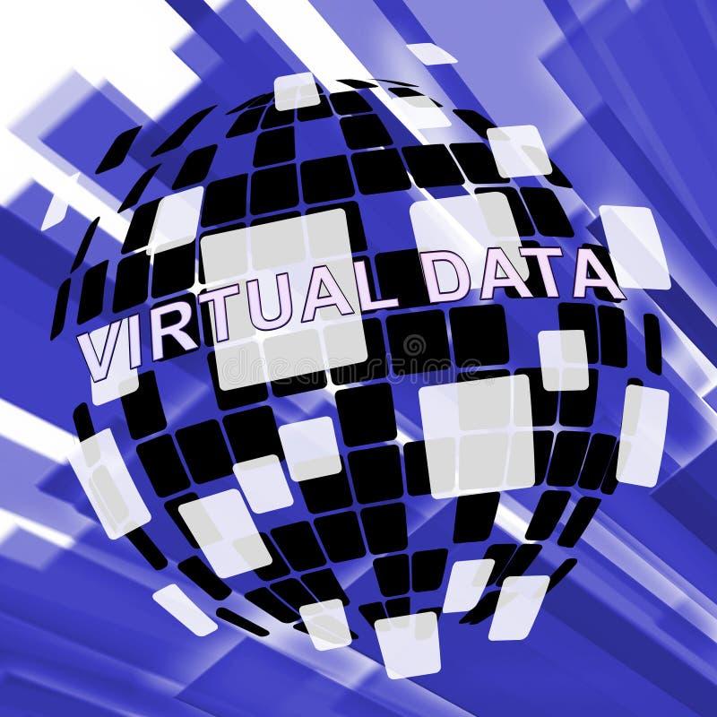 Virtuele Gegevenszaal Bigdata die 3d Illustratie gegevens verwerken vector illustratie